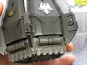 Space marine drop pod entry weathering