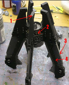 Space marine drop pod stabilizing fins