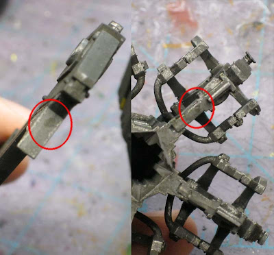 Space marine drop pod pieces
