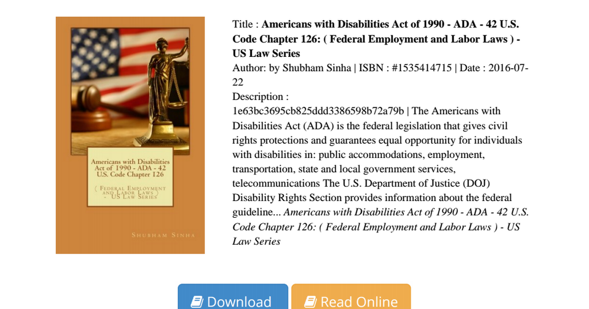 an analysis of the equal opportunities guaranteed in americans with disabilities act Rehabilitation act and title ii of the american with disabilities act to an equal opportunity to participate in their school's extracurricular activities 1, 2 2.