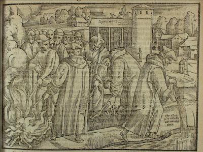 Exhumación y cremación de J. Wyclif
