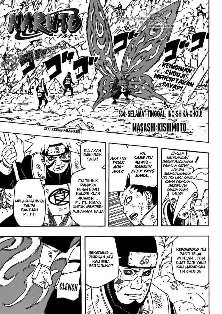 01 Naruto 534   Selamat Tinggal Ino Shika Chou