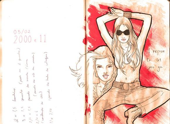 Sketch vermelho baixa