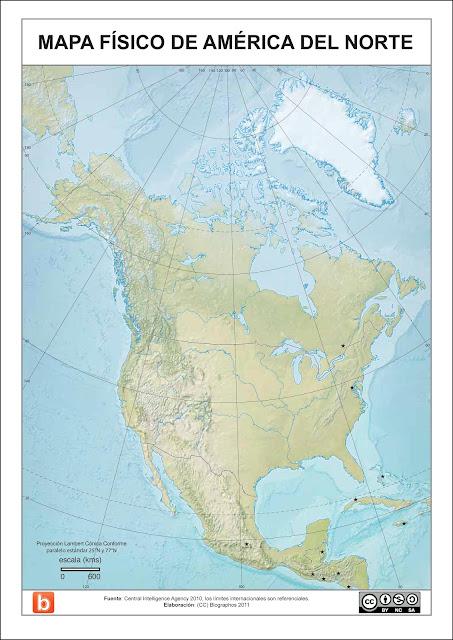 Mapas Políticos De América Del Norte Para Colorear Imagui