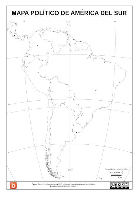 24 Mapa Poltico de Amrica del Sur para colorear Blographos