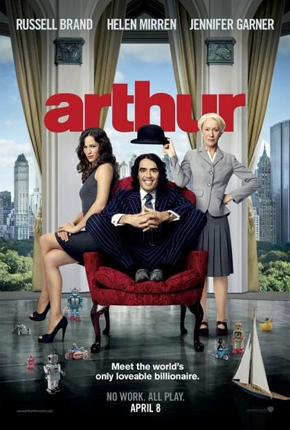 Arthur, 2011, Official, movie, Poster, Russell Brand