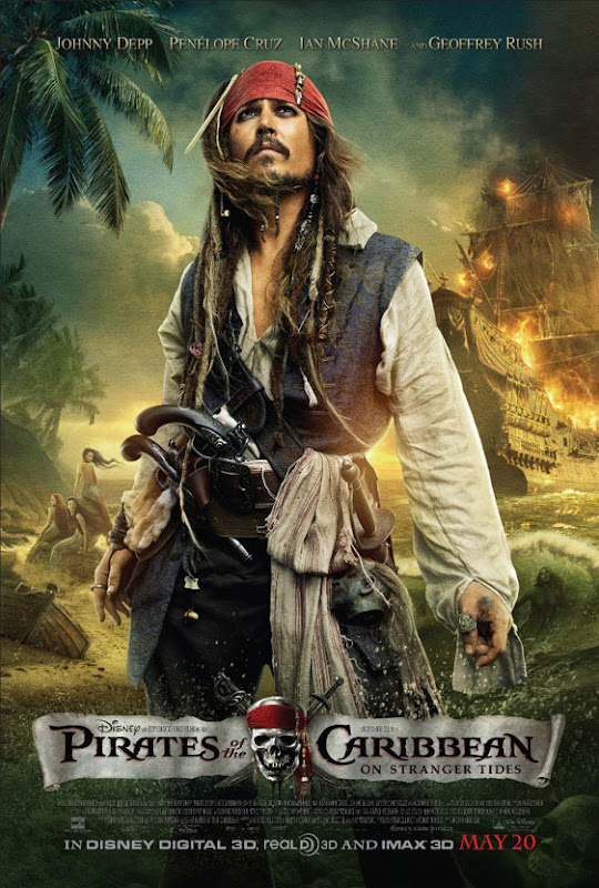 Pirates of the Caribbean 4, On Stranger Tides, movie,poster