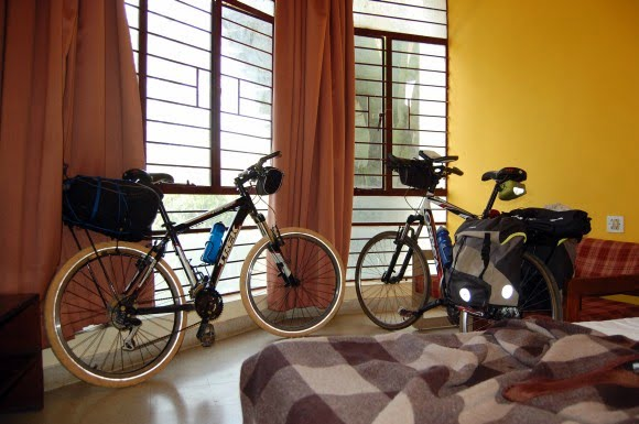 Bikes at our room in Chikmagalur