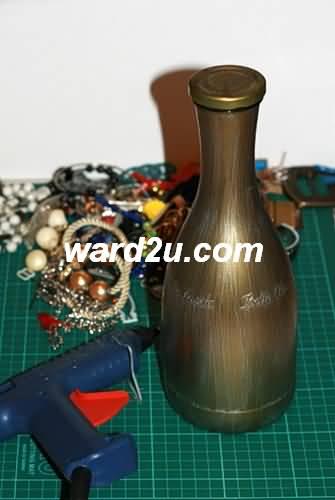 تقنيات جديدة وافكار للزخرفة على الزجاجات