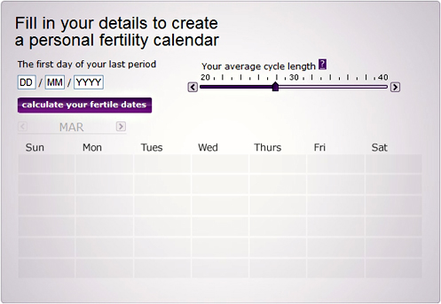 Create your own personal fertility calendar