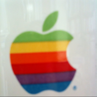 Apple logo from old mug.
