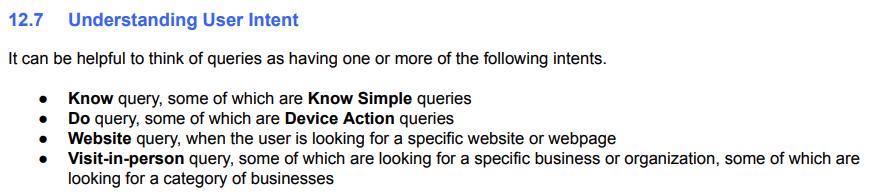 Google shows finer segmentations for user intent