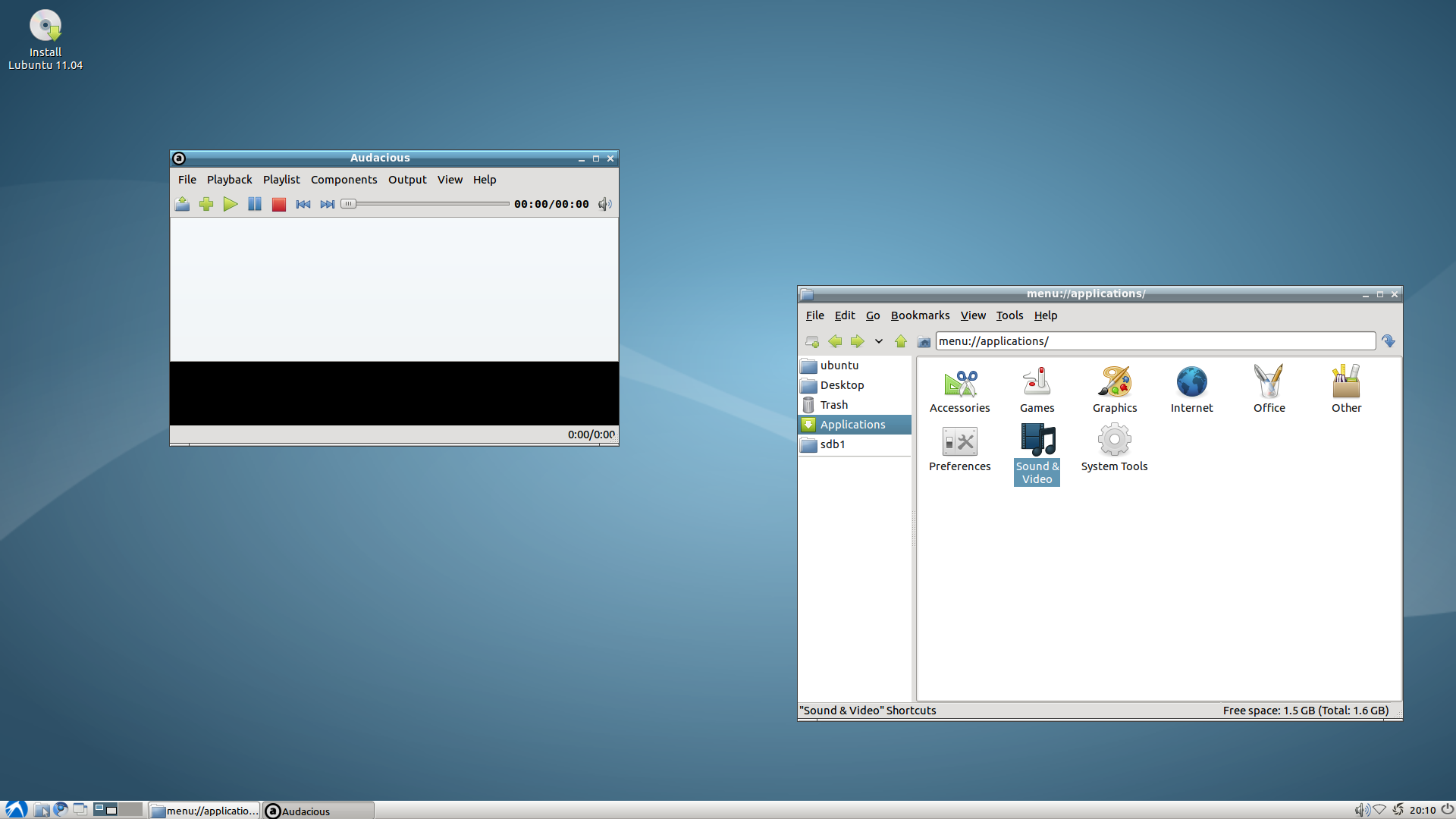 Lubuntu 11 04 Alpha 2 Released, Removes Cheese And Xarchive