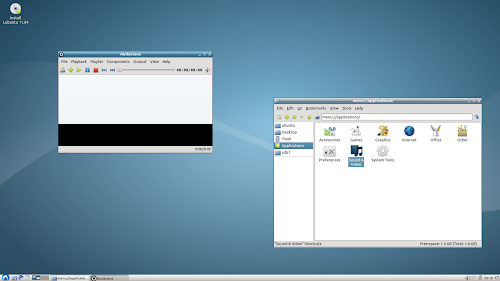 Lubuntu 11.04 alpha 2 screenshot