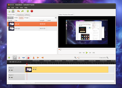 OpenShot 1.3.0 screenshot