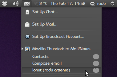 Thunderbird Messaging Menu