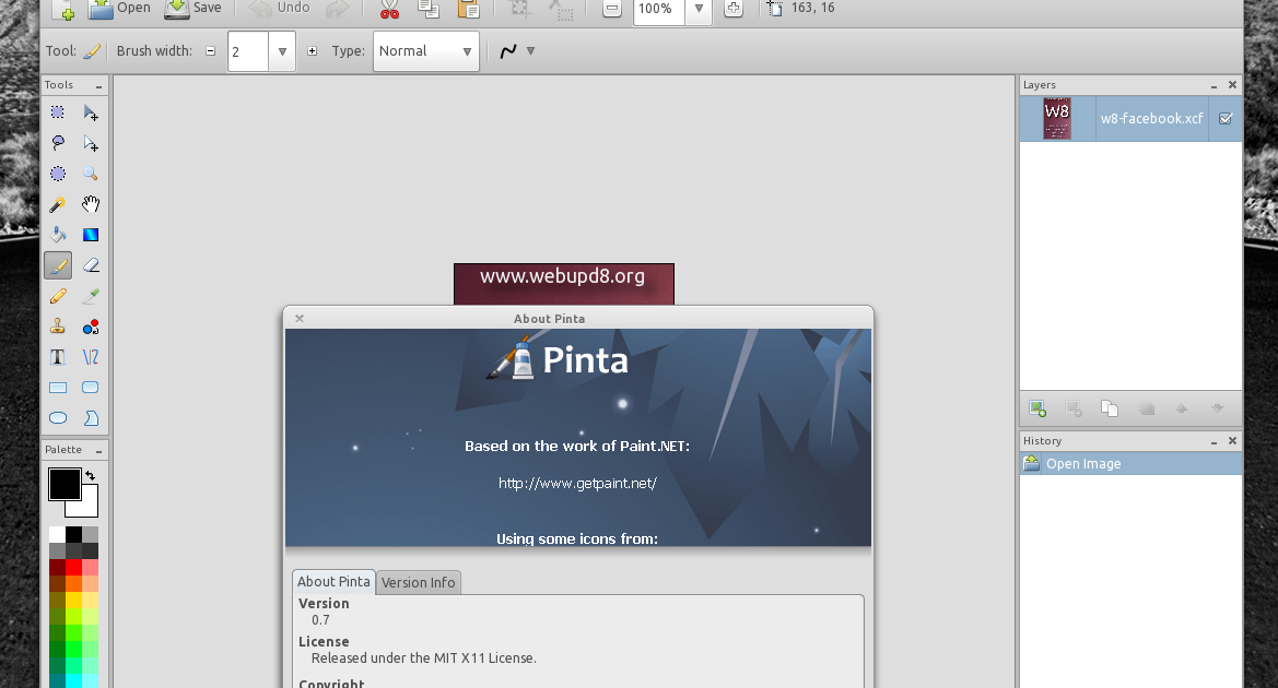 Install Pinta 0 7 Drawing Image Editing Application In