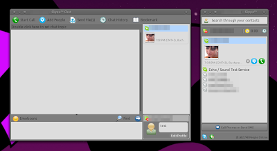 Skype 2.2 beta 2 Ubuntu screenshot