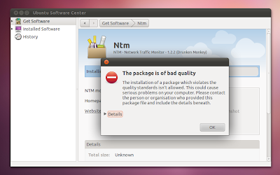 Ubuntu Software Center - error installing .deb