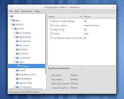 Gconf editor gnome shell