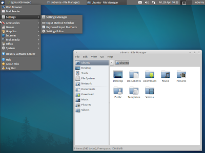 XUbuntu 11.04 default theme