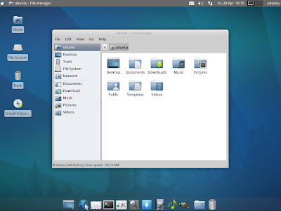 XUbuntu 11.04 screenshot