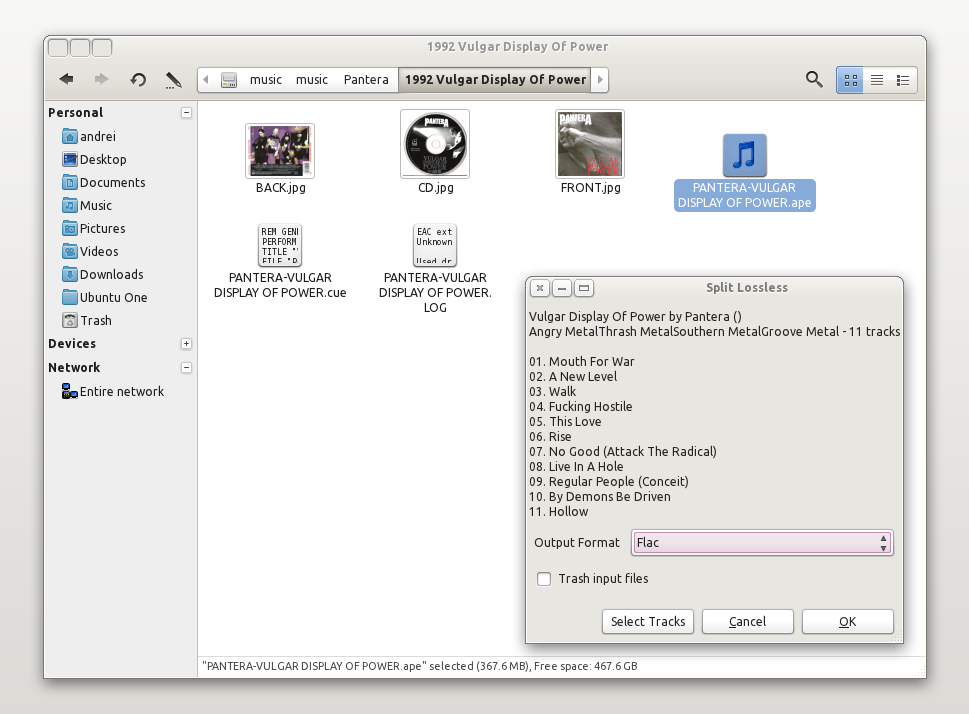 Split Lossless Audio Files And Automatically Add Tags In Ubuntu With