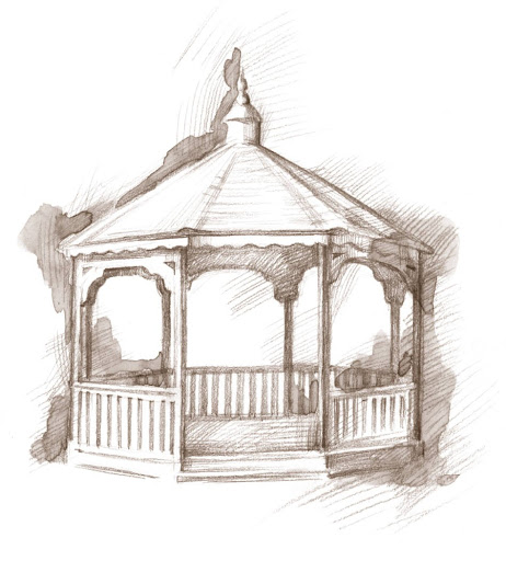 A gazebo, similar to the one in Gaithersburg.