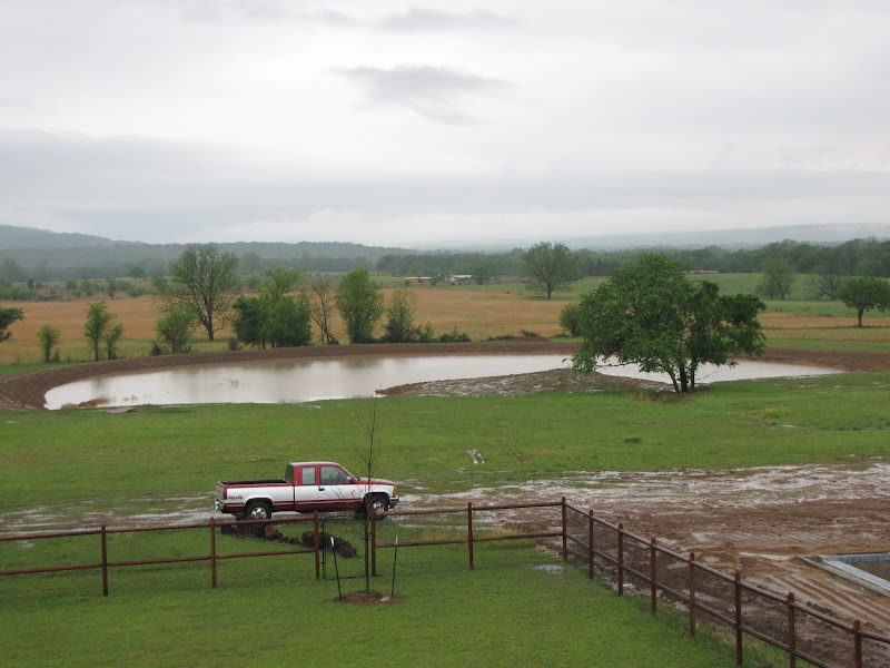 2 Acre Pond Construction : Started on acre pond pics included building a dam