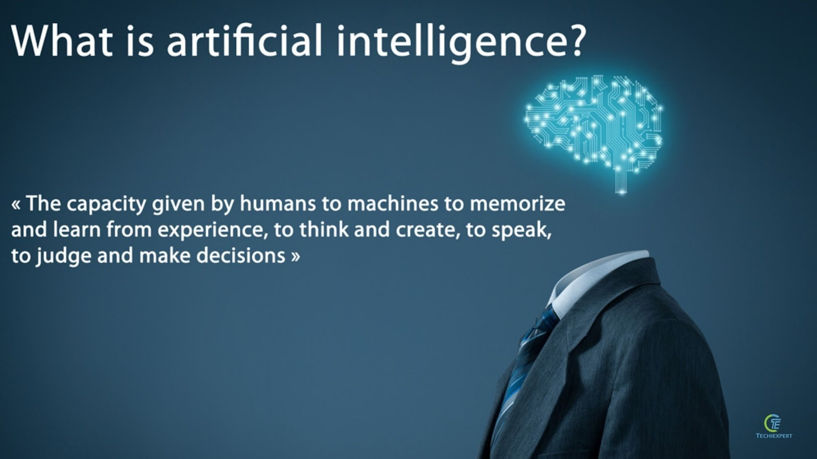 What artificial intelligence is?