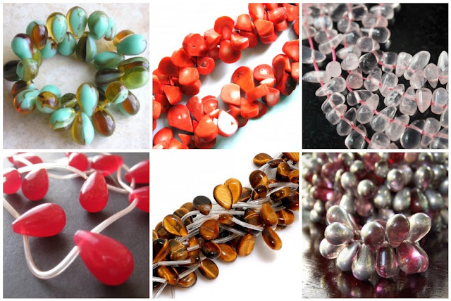 Assorted Teardrop Beads
