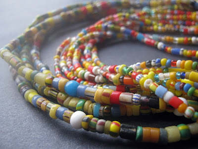 African Christmas Bead Strands