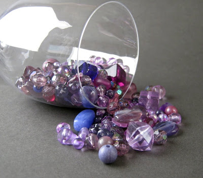 Rare and Vintage Purple Bead Mix