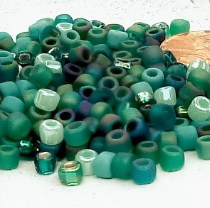 Caribbean Seafoam Seed Bead Mix from Earthly Possessions