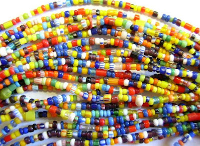 Small African Christmas Beads from HappyMangoBeads.com