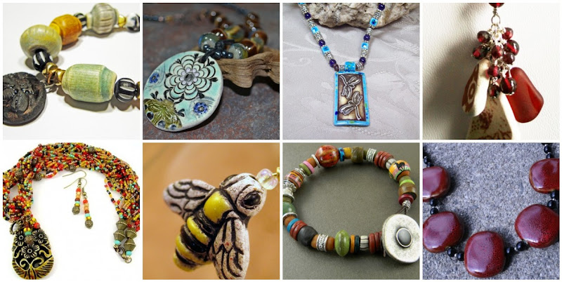 Ceramic and Porcelain Jewelry Designs