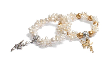 Fairy Charm Pearl Bracelets