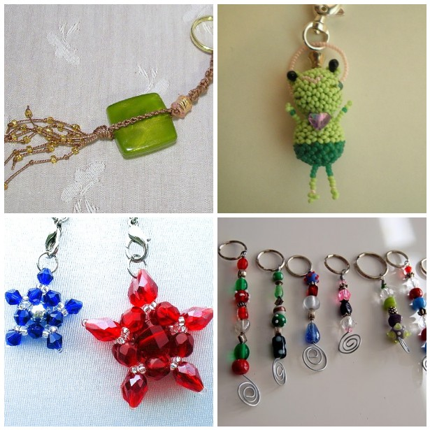 Beaded Keychains and Zipper Pulls