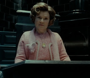 Delores Umbridge Wearing the Lost Horcrux