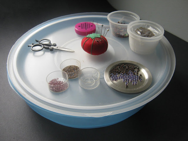 Serving Tray Beading Workspace
