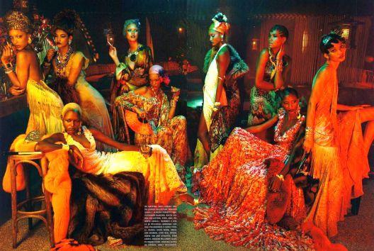 Editorial com modelo negras