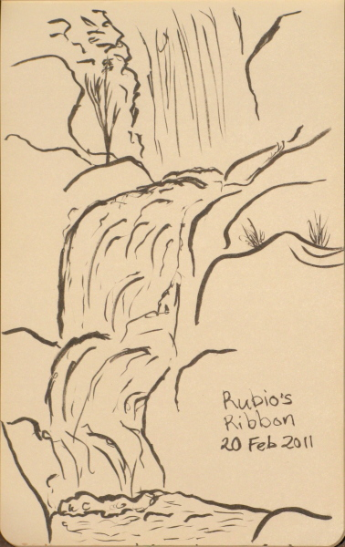 Sketch of the lower level of the falls.