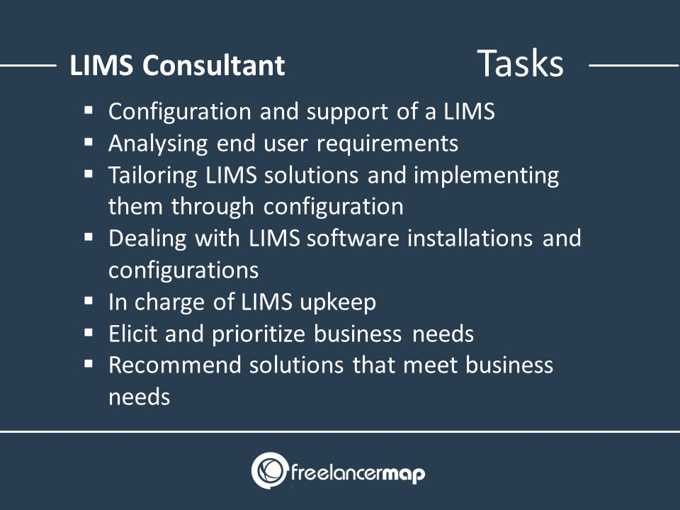 Responsibilities of a LIMS consultant