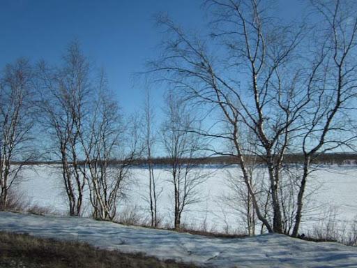 De Tornio rivier ergens ten zuiden van Muonio