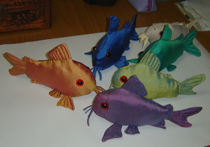 a small herd of stuffed cories