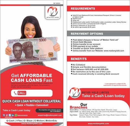Motion Yield Ltd - Bank in Somolu
