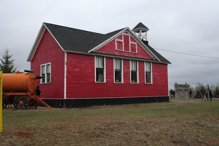 This is a picture of the schoolhouse located on the Museum grounds at Lake Linden. Students were educated in trades and mining fields in preparation for the workforce. Also the schools served as a major draw for workers to a community.- Ashley Holloway
