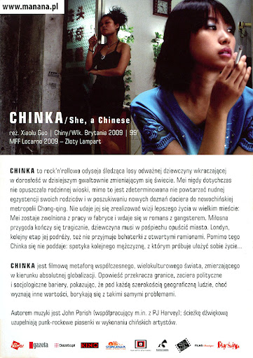 Tył ulotki filmu 'Chinka'