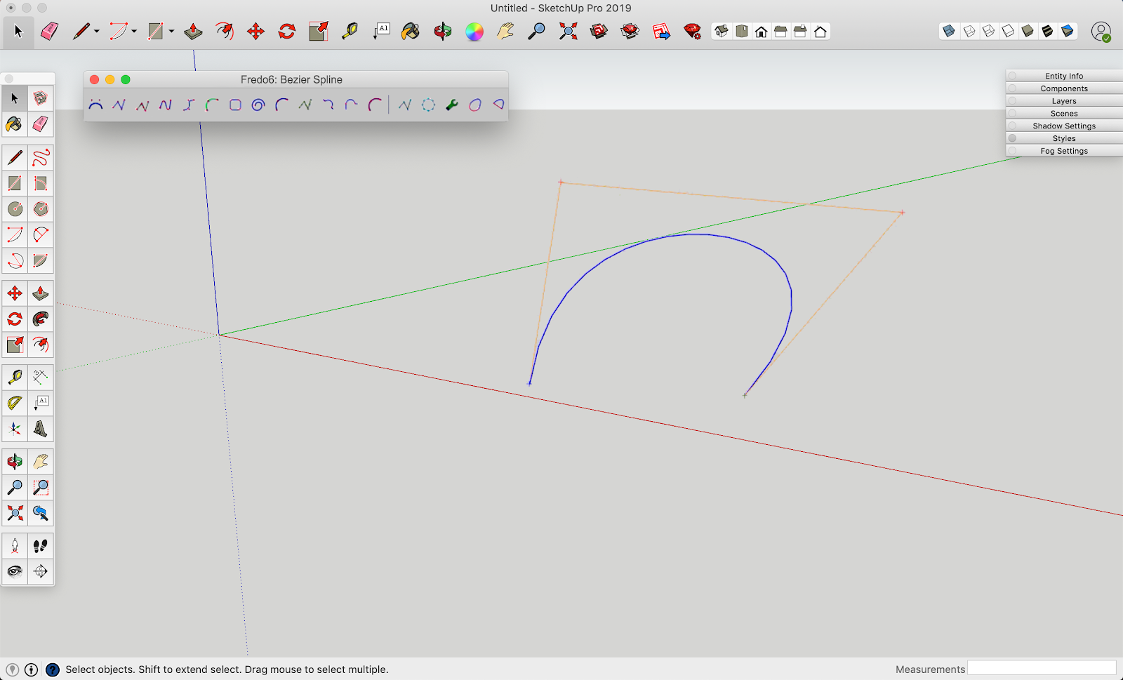 Fredo6: Bezier Spline UI in SketchUp