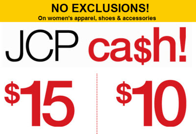 JCpenney cash coupon march 2011